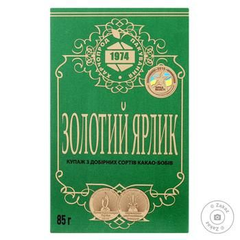 Cocoa Harchoprodpakuvannya Zolotyy yarlyk instant for baking 85g packaged - buy, prices for MegaMarket - image 1