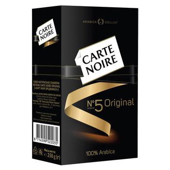 Кофе Carte Noire Original молотый 250г - купить, цены на СитиМаркет - фото 1