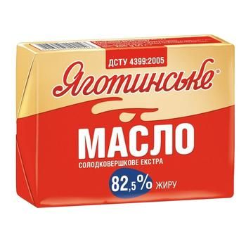 Масло Яготинське Экстра сладкосливочное 82,5% 200г