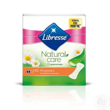 Libresse Natural Care Normal daily pads 2 drops 40pcs