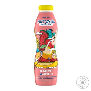 Напиток из сыворотки Актуаль Лакто-сок арбуз-дыня 0% 580г