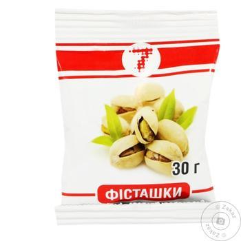 Фисташки Українська Зірка солёные 30г - купить, цены на Таврия В - фото 1