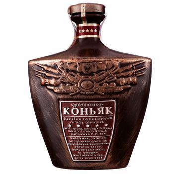 Коньяк Дорошенко 5 зівезд 40% 0.5л - купить, цены на Novus - фото 1