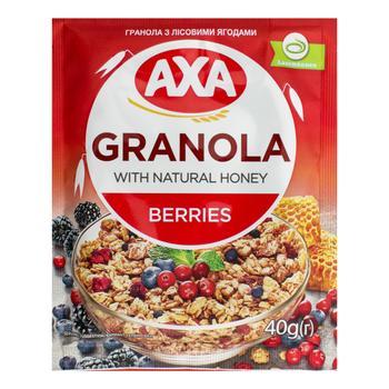 АХА Granola Cereals With Berries Dry Breakfast 40g - buy, prices for EKO Market - photo 1