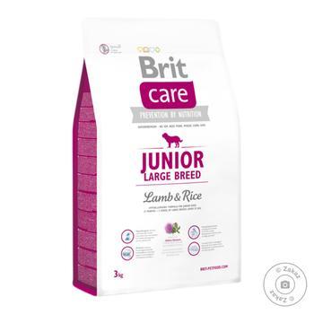 Корм сухий Brit Care ягня та рис для цуценят та молодих собак великих порід 3кг - купити, ціни на Восторг - фото 1