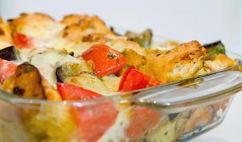 Запеканка из баклажанов с сыром и лавашом