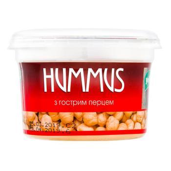 Закуска YoFi! Hummus Середземноморська з гострим перцем 250г - купити, ціни на Novus - фото 1