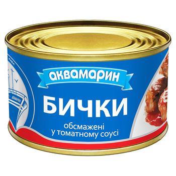 Бычки Аквамарин обжаренные в томатном соусе 230г - купить, цены на Novus - фото 2