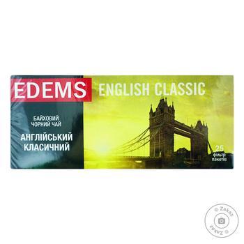 Edems Tea Black English Classic 25 teabags - buy, prices for Furshet - image 1