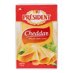 President Cheddar Sliced Cheese 51% 100g