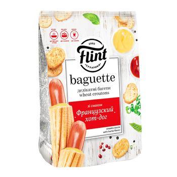 Сухарики Flint Багет Французский хот-дог 110г