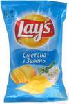 Чипсы Lay's со вкусом сметаны и зелени 30г