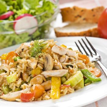 Салат із курки з рисом