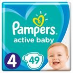 Pampers Active Baby 4 diapers 9-14kg 49pcs