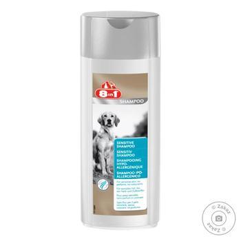 Шампунь 8в1 250мл для чутливої шкіри для собак