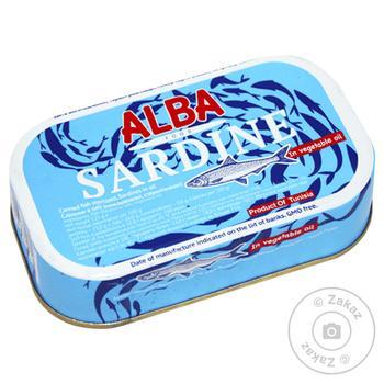 Сардины в масле Alba Food 125г
