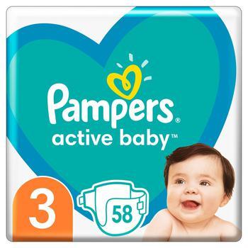 Подгузники Pampers Active Baby Размер 3 (6-10 кг) 58шт