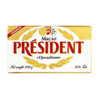 President Unsalted Sour Cream Butter 82% 200g