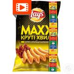 Lay's Maxx potato chips with chicken wings barbecue flavor 120g
