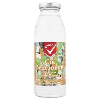 Varto Birch Juice with Sugar 0,3l