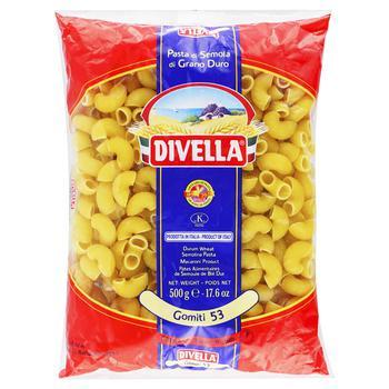 Макароны Divella Gomiti 53 500г - купить, цены на Novus - фото 1