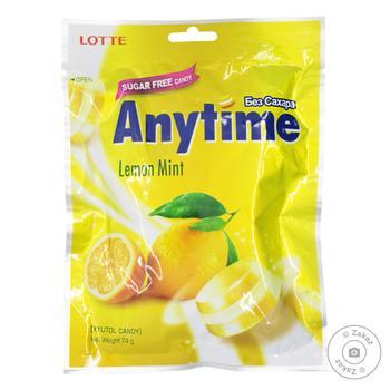 Карамель Lotte Лимон-мята без сахара 74г