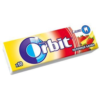 Резинка жевательная Orbit Клубника-Банан 13,6г