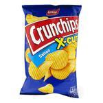 Чипсы картофельные Lorenz Crunchips X-cut С солью волнистые 75г