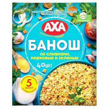 Каша AXA банош со сливками морковью и зеленью 40г