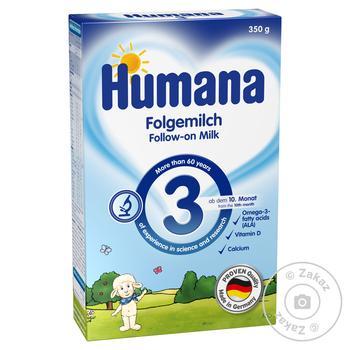Смесь Humana молочная сухая с пребиотиками для детей с 10 месяцев 350г