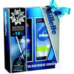 Подарочный набор Gillette Series гель после бритья 75мл + гель для бритья Sensitive Skin 200мл
