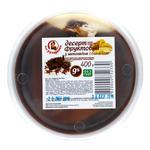 Десерт сирковий Пані Хуторянка з шоколадом і бананом 9% 400г