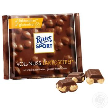 Шоколад Ritter Sport безлактозный 100г