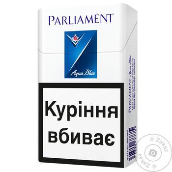 Сигареты Parliament Aqua Blue - купить, цены на Таврия В - фото 1