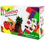 Strateg Dominoes Fruits and Vegetables Game