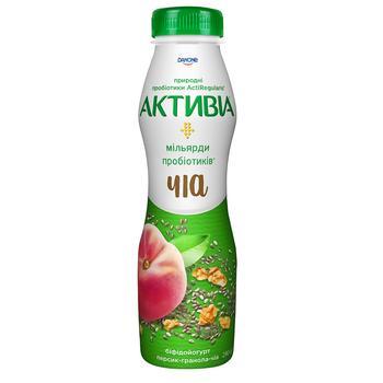 Бифидойогурт Активиа персик-чиа-гранола 1,5% 290г