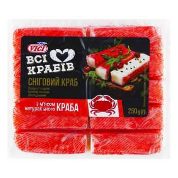 Крабовые палочки Vici с мясом натурального краба охлажденные 250г - купить, цены на СитиМаркет - фото 1