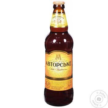 Пиво ППБ Авторское полутёмное 7% 0.5л - купить, цены на Ашан - фото 1