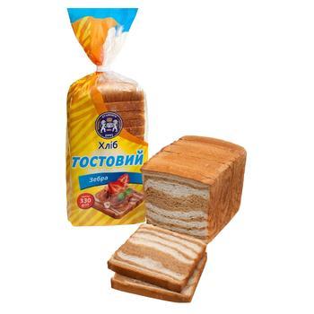 Хліб Кулиничі Тостовий Зебра 330г - купить, цены на Ашан - фото 1