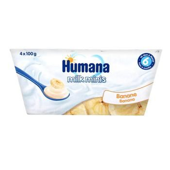 Продукт кисломолочный Humana Milk minis Банан для детей с 6 месяцев 4*100г - купить, цены на СитиМаркет - фото 2