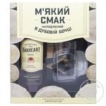 Ром Bacardi Oakheart 35% 1л + бокал в коробці