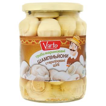Varto Whole Pickled Champignons Mushrooms 620g