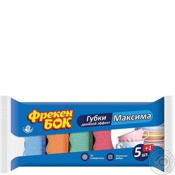 Набір губок Фрекен Бок Подвійний ефект Максима 6шт - купити, ціни на Метро - фото 1