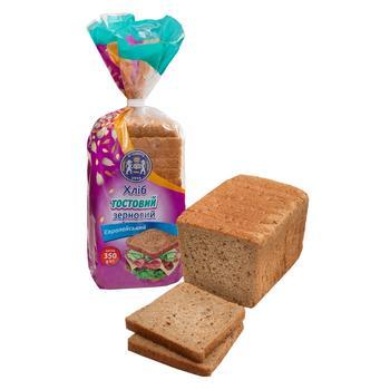 Хліб Кулиничі Європейський Тостовий зерновий 350г - купити, ціни на CітіМаркет - фото 1