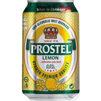 Пиво Prostel Lemon светлое безалкогольное 0,33л ж/б