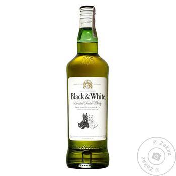 Виски Black&White 40% 1л - купить, цены на Novus - фото 1