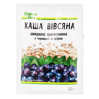 Каша овсяная Каждый день с сахаром и черникой 35г - купить, цены на Ашан - фото 3