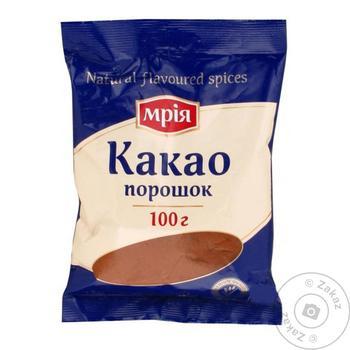 Какао-порошок Мрия 100г - купить, цены на МегаМаркет - фото 1