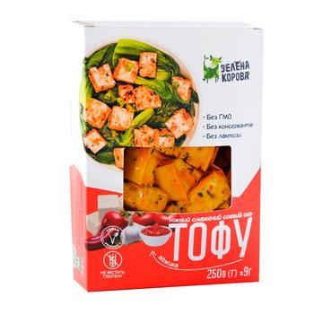 Сыр Зеленая корова тофу жареный 250г