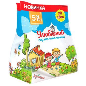 Ulyublenyy Sour Milk Cheese 5% 350g